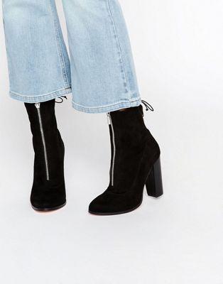 ASOS ETTY Slouch Zip Sock Boots