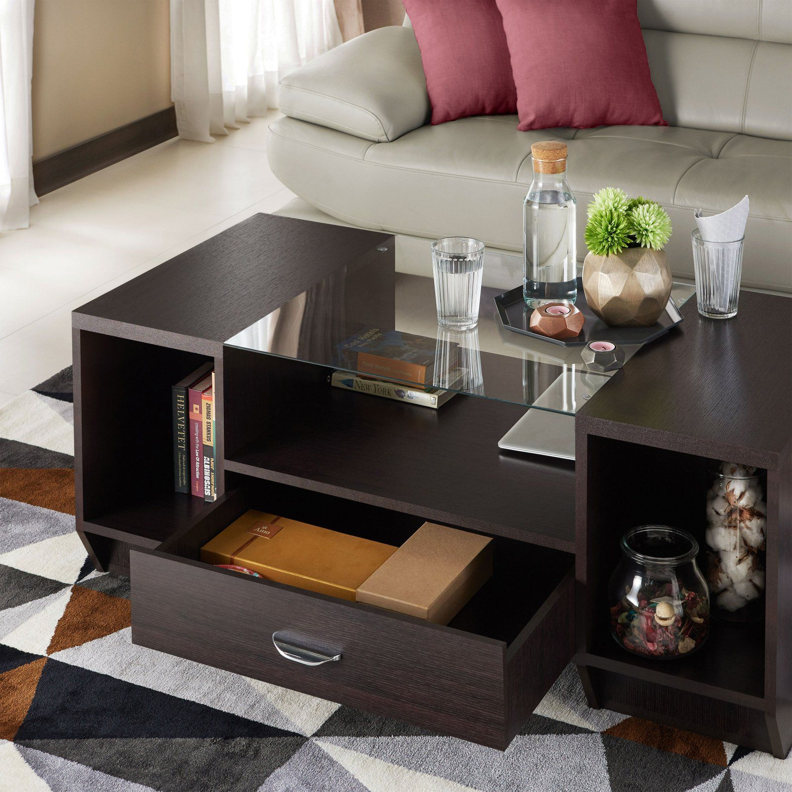 Furniture Of America Vincent Contemporary Coffee Table Table