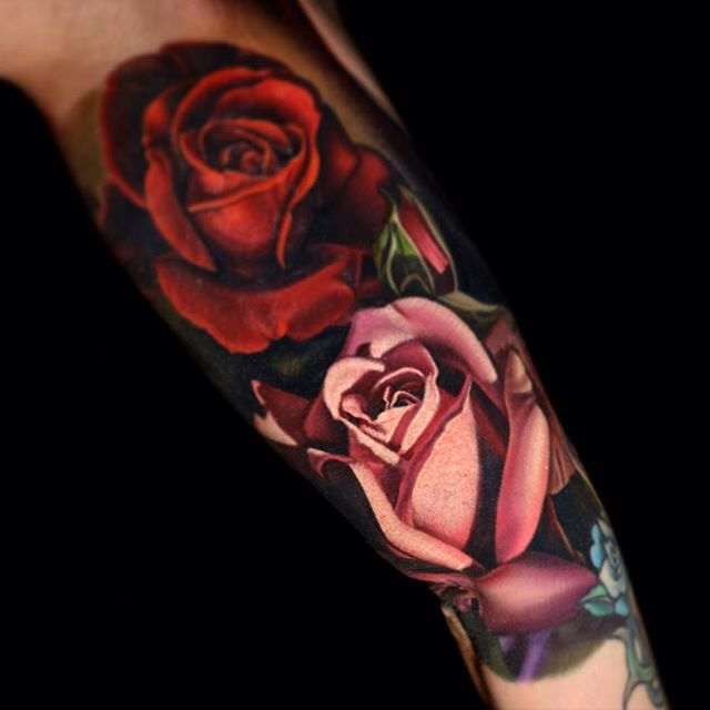 Pin By Frances Torres On Skin Art Pink Rose Tattoos Rose Tattoo Sleeve Cover Tattoo
