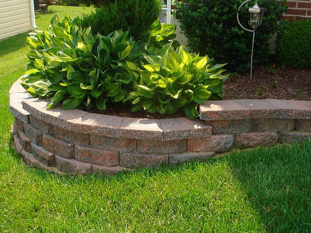 front yard retaining wall for the garden pinterest retaining