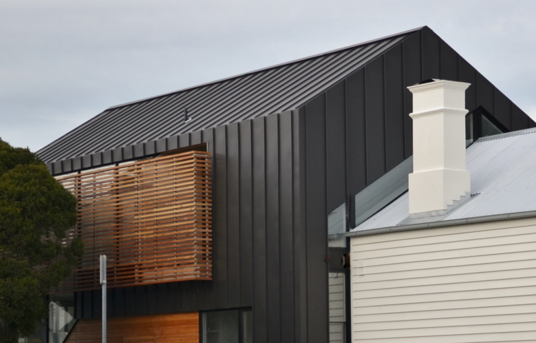 Zinc Panel Cladding Horizontal Or Vertical Stacked Wood Cladding 2 Types Of Facade Materials