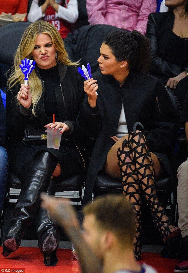 Kendall Jenner and Khloe Kardashian at basketball game   Khloe, Khloe  kardashian, Kendall jenner