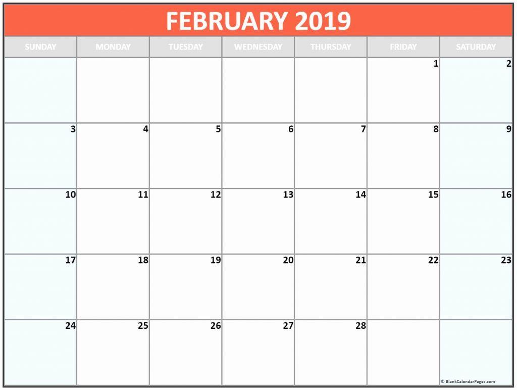 February 2020 Calendar Canada With Bank Public Federal Holidays