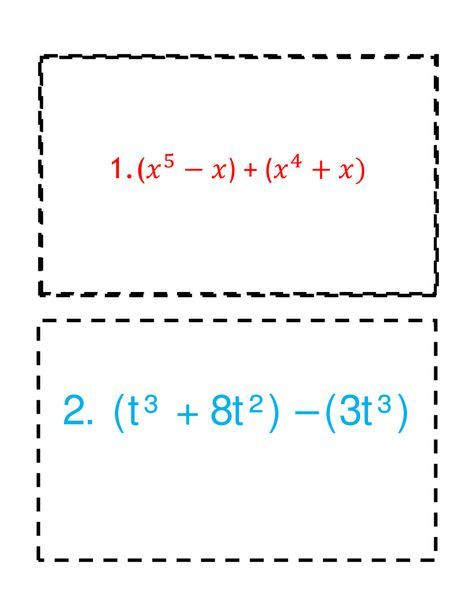 Adding Subtracting Polynomials Polynomials Persuasive Writing Prompts Teaching Algebra