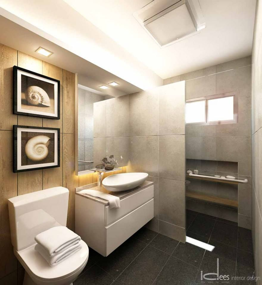 Hdb resale 5 room 205 pasir ris interior design for Toilet bathroom design