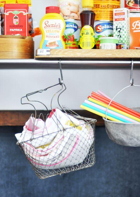 small kitchen, but big style / ikea grundtal kitchen rack