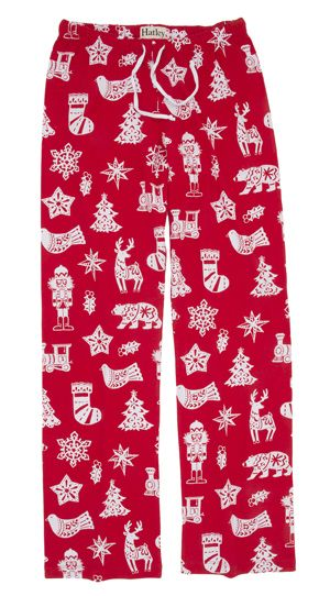 Hatley Nature Bearly Sleeping Womens Flannel Pajama Pant In Red The Pajama Company