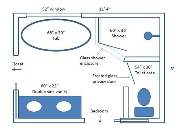 6 x 11 bathroom layout - Google Search | Bathroom layout ...