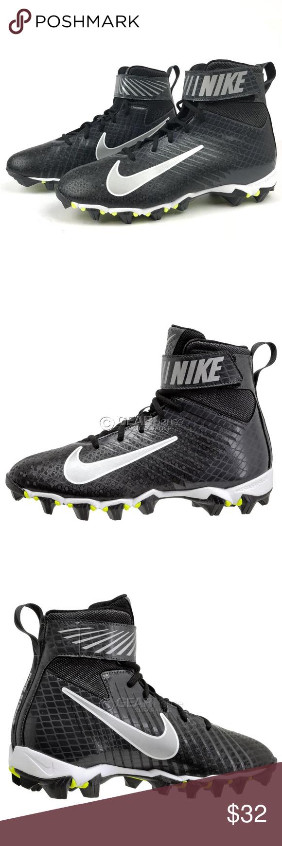 6d4fe4924e29 Nike Strike Shark Boys Football Cleats 1Y NWT!!! Nike Strike Shark Boys  Football Cleats 1Y Black Metallic Silver NWT!!! 833389 002 Nike Shoes  Sneakers