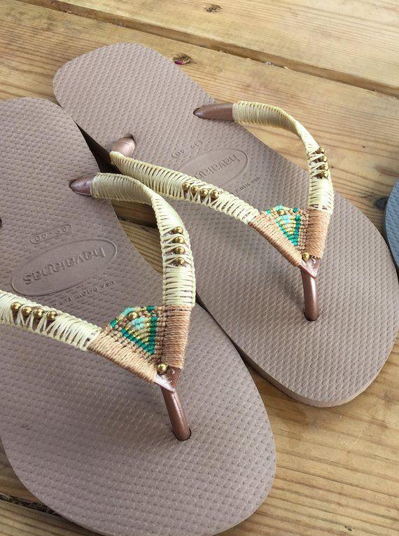 4a3560506ee3 SUMMER SALE Wedding Sandals Wedding Flip Flops Wedding Flats Womens Sandals  Boho Wedding Shoes Boho