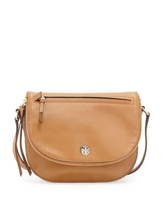 Brody Leather Saddle Bag Bark By Tory Burch At Neiman Marcus