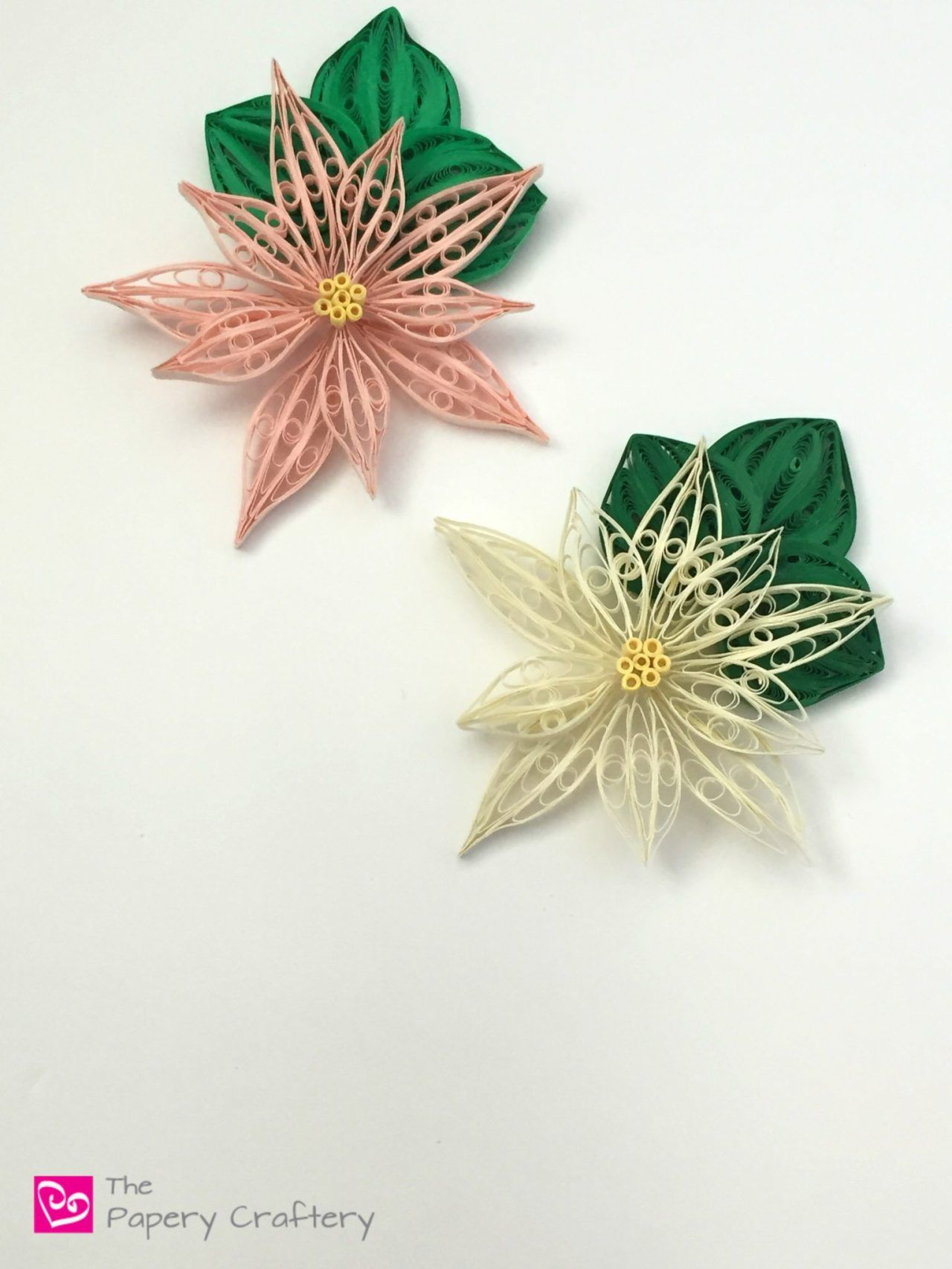 Quilling paper poinsettia flowers use a quilling comb to make quilling paper poinsettia flowers use a quilling comb to make traditional holiday blooms thepaperycraftery mightylinksfo