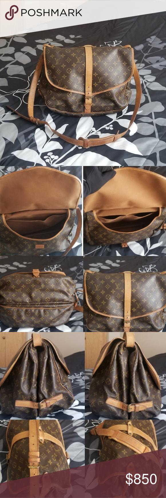 LOUIS VUITTON BAG(SAUMUR35) Authentic Preloved,Vintage For