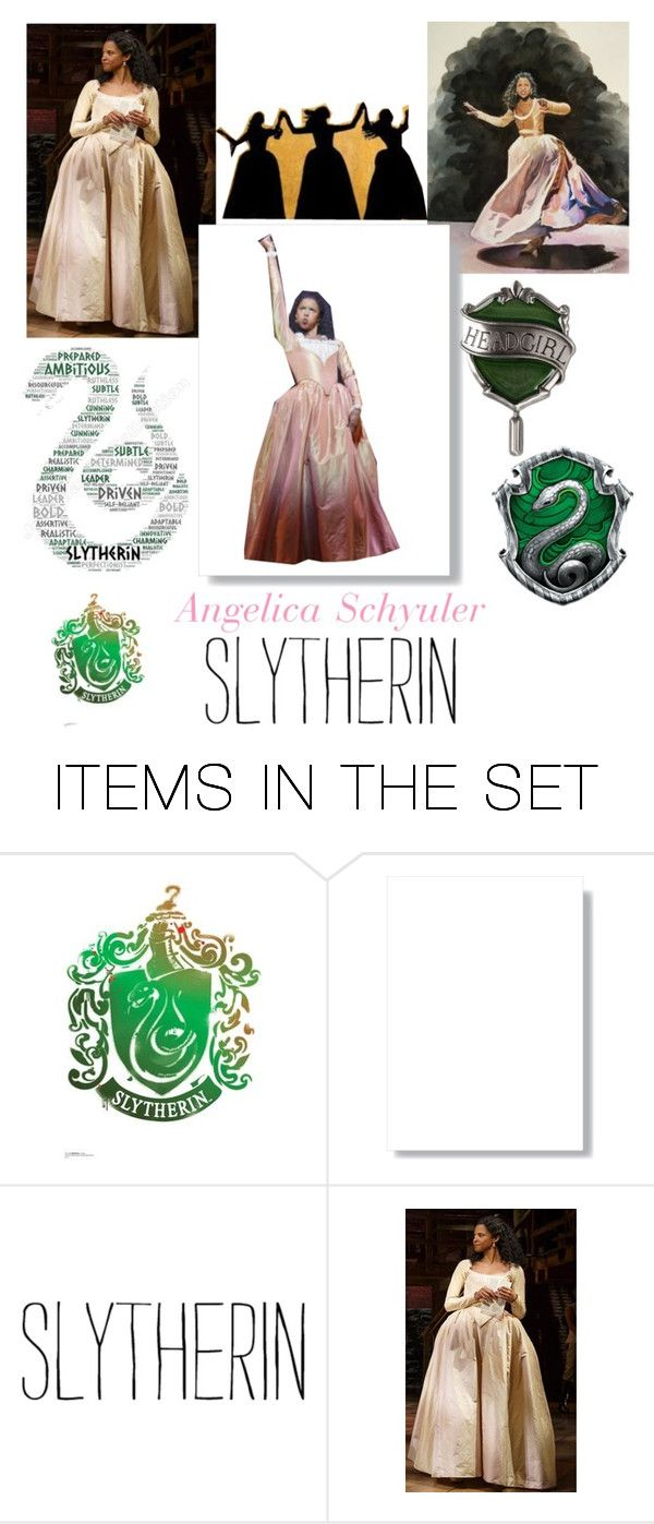 """""""Angelica Schyuler in Slytherin"""" by glamourgirl0416 ❤ liked on Polyvore featuring art"""
