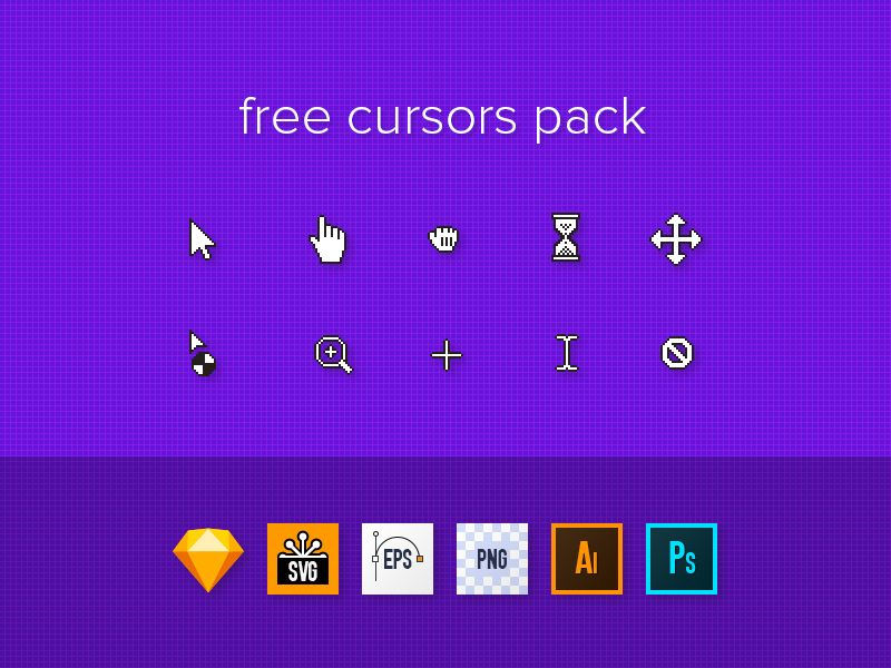 This pack includes 10 most used cursors • default cursor