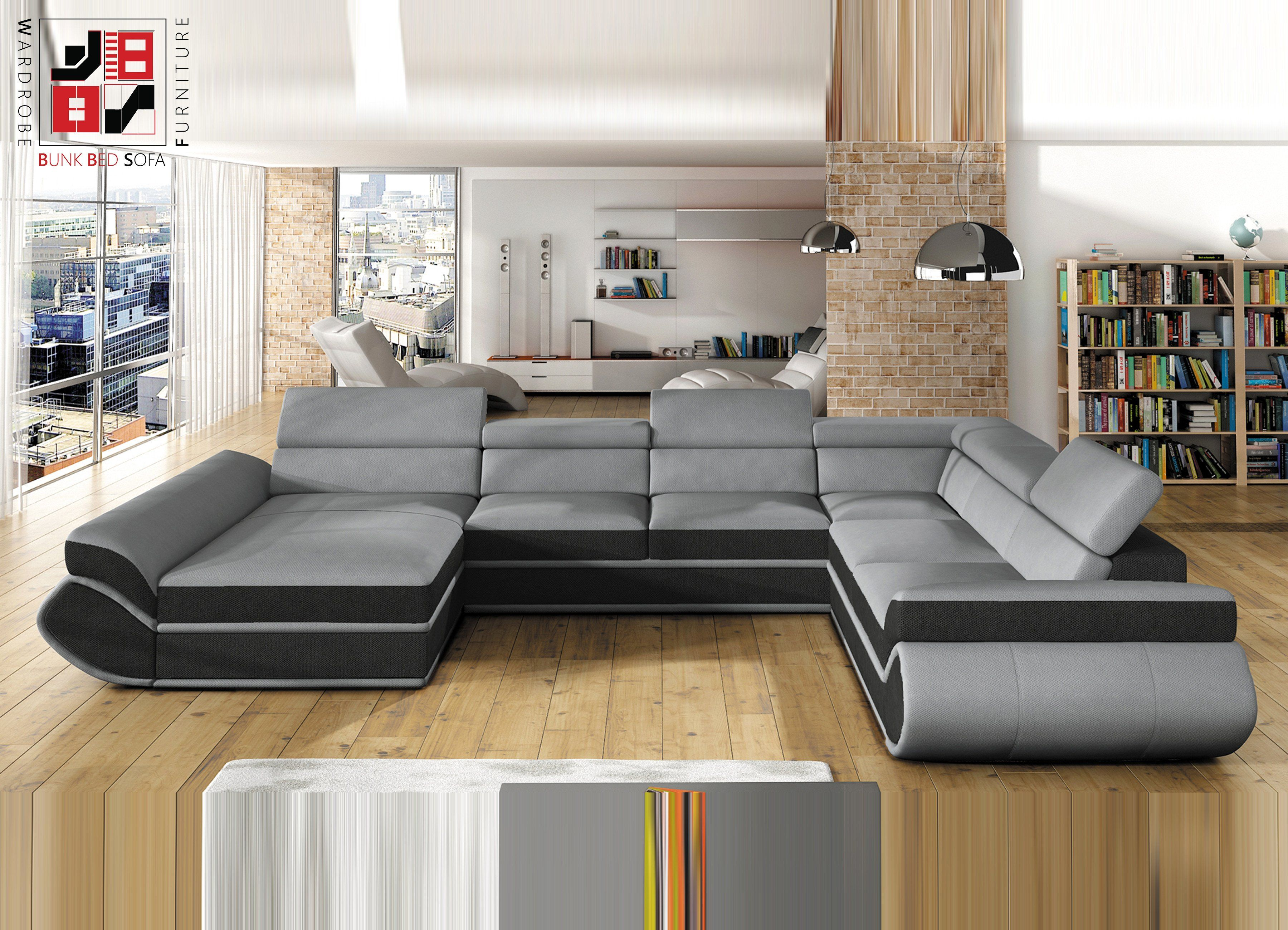 Universe Xl Luxury U Shape Sofa Bed For Extra Ordinary Folkes 374x287x190cm U Shaped Sofa Bed U Shaped Sofa Sectional Sleeper Sofa