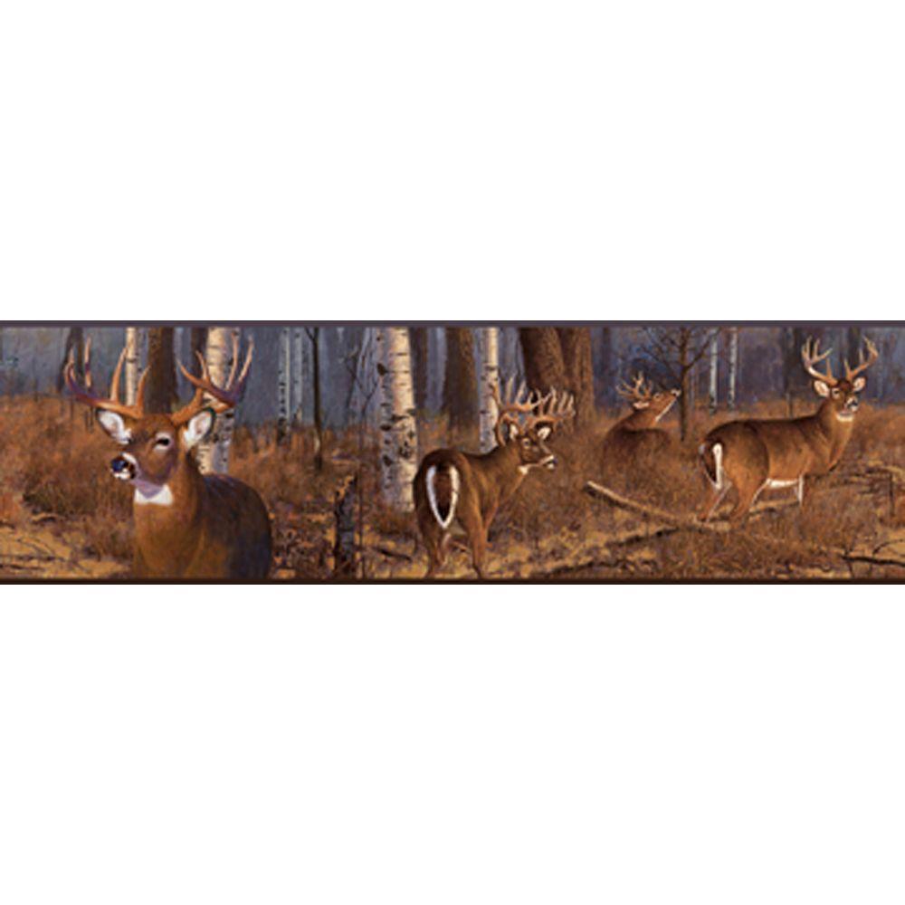 Lake Forest Lodge Deer Border Rockymountaindecor
