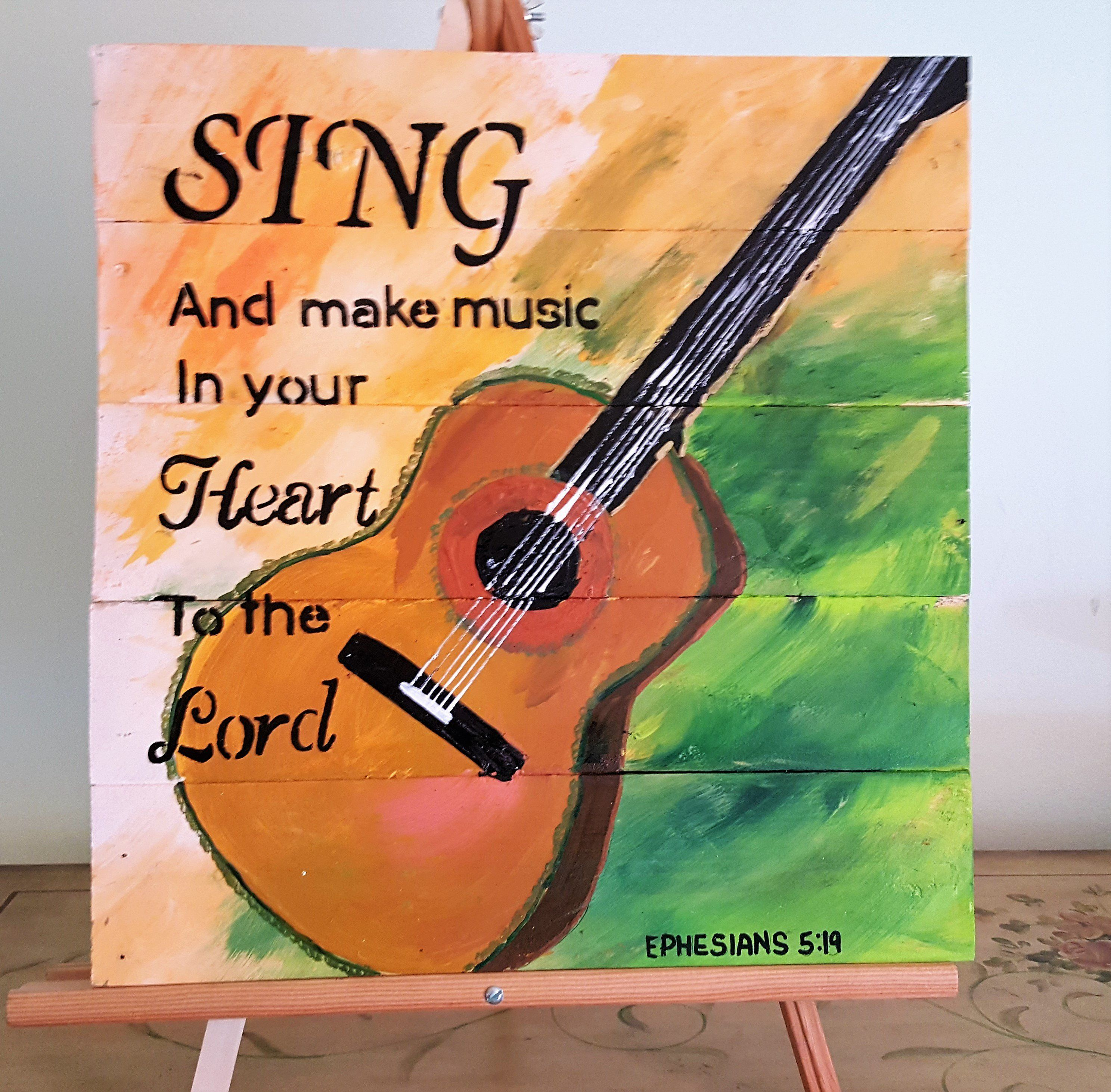 Sing and make music your heart to the Lord Ephesians 5:19