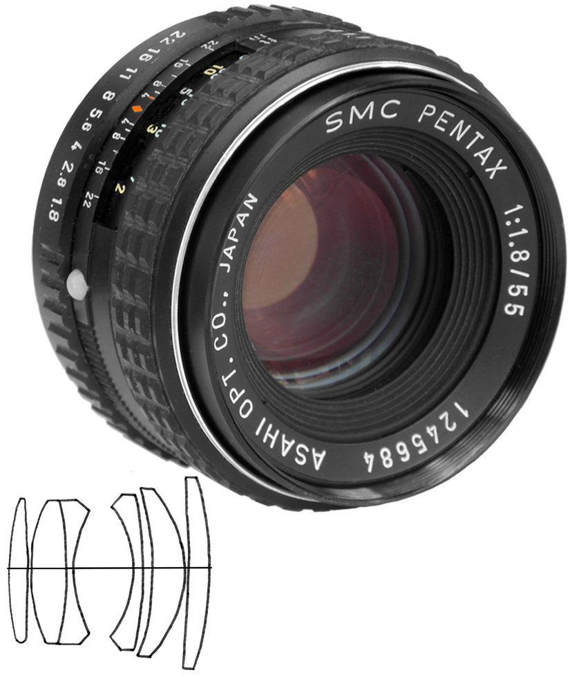 Smc Pentax 1 1 8 55 Pentax Vintage Lenses Pentax Camera