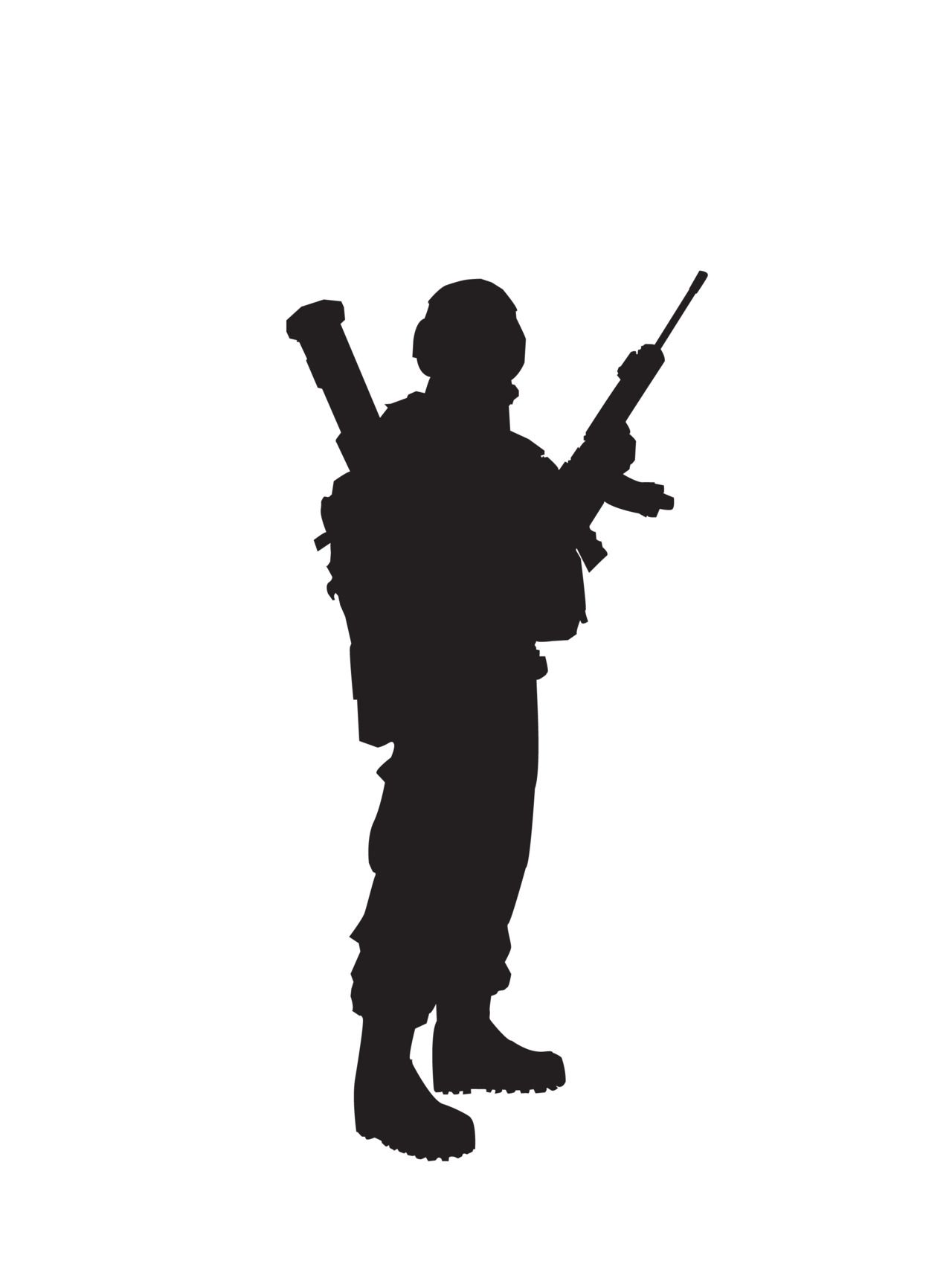 Soldier silhouette. | silhouette | Pinterest