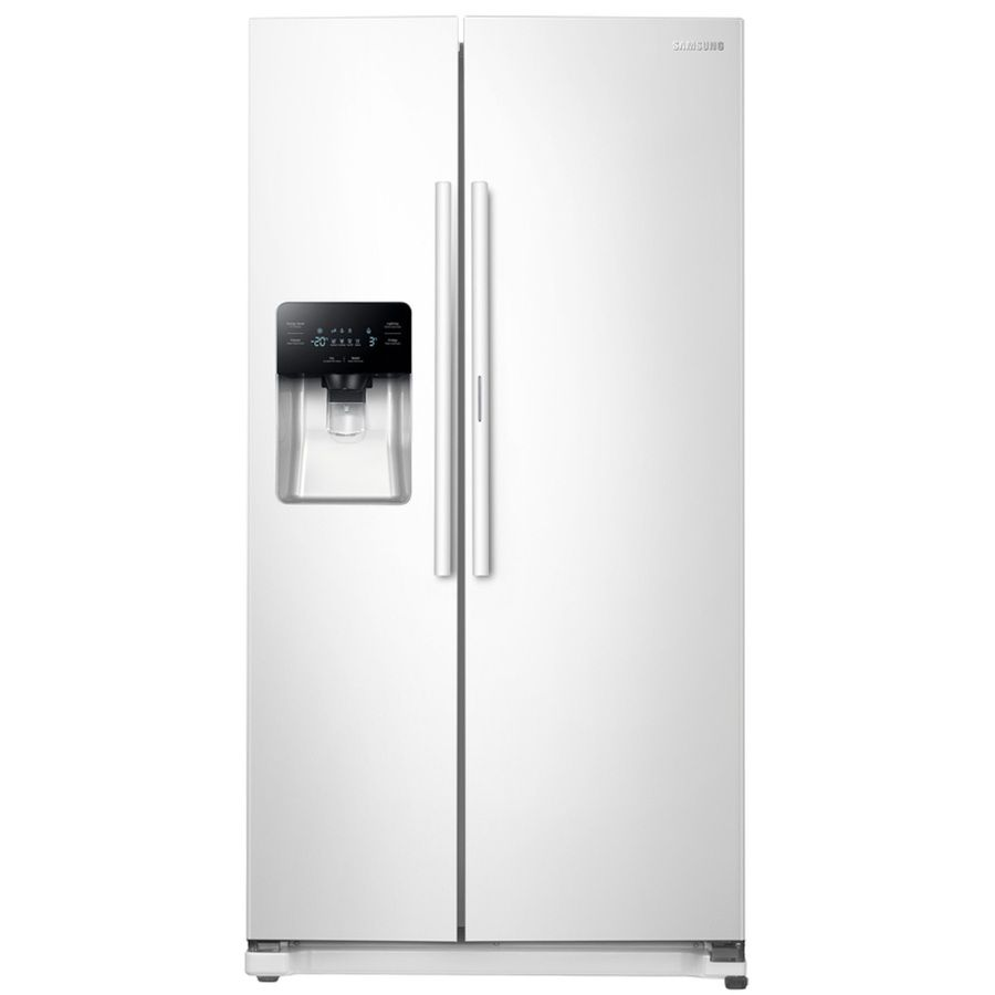 Samsung Food Showcase 24 7 Cu Ft Side By Side Refrigerator With Ice Maker And Door Within Door White Side By Side Refrigerator White Refrigerator Refrigerator
