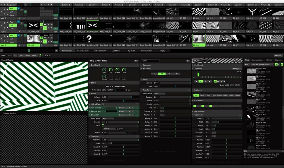 Resolume Arena 4 | TIMECODE | Software, Mac os