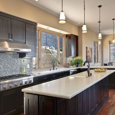 Kitchen - paint color - peaceful | Contemporary kitchen ...