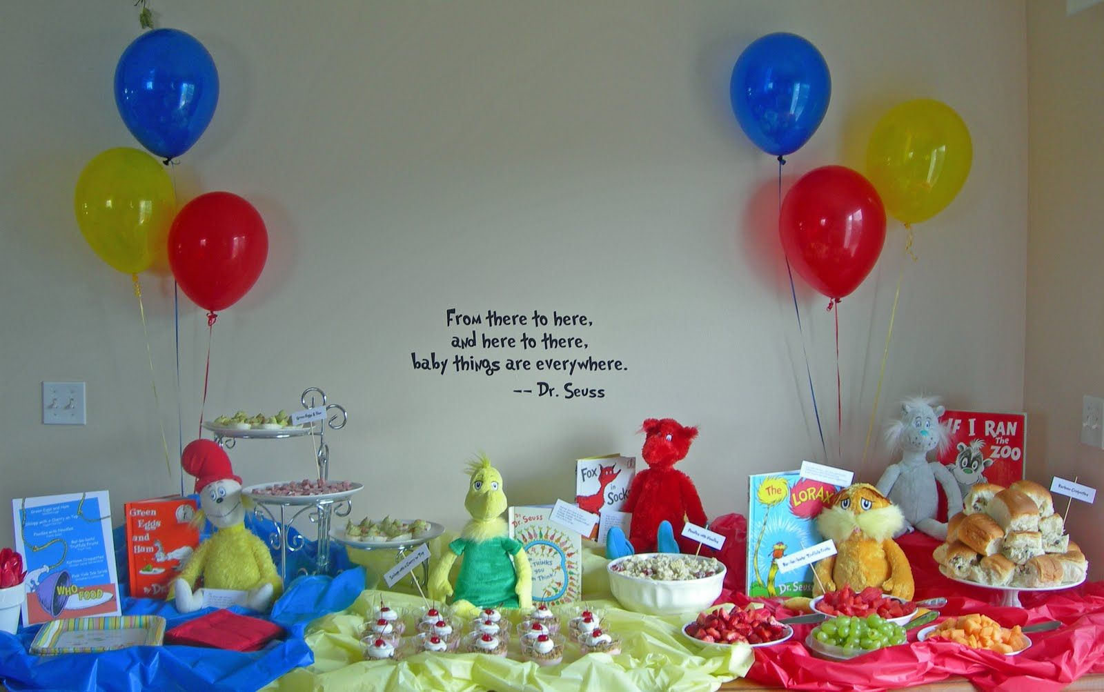 Dr Seuss Baby Shower Food Changed The Word Funny To Baby Since It
