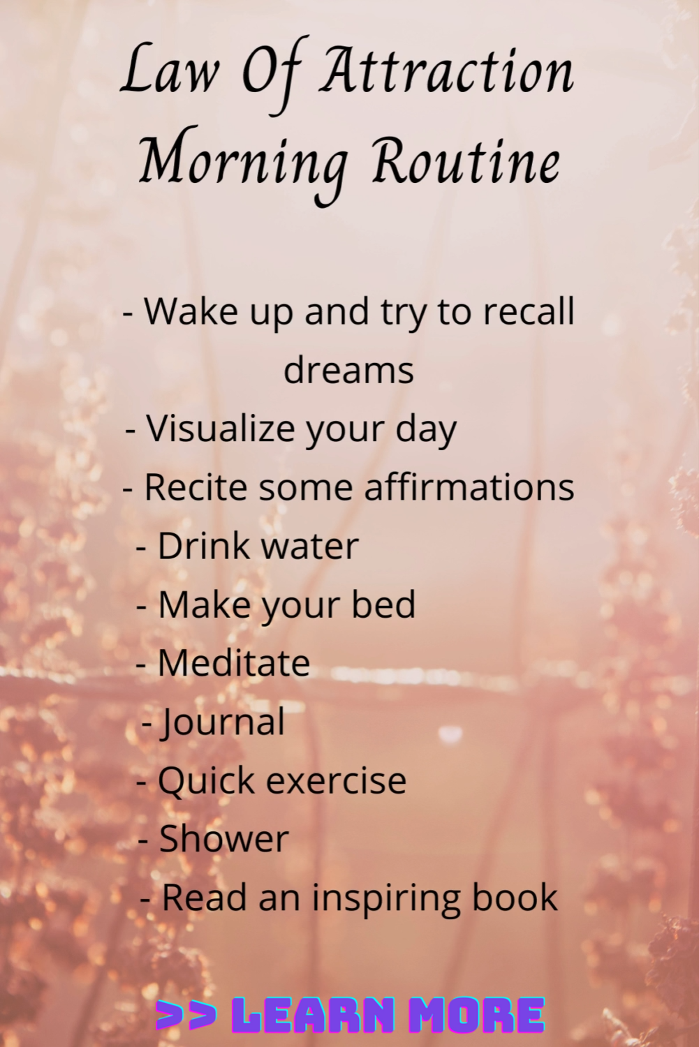How to have an abundant day    Law of attraction morning routine