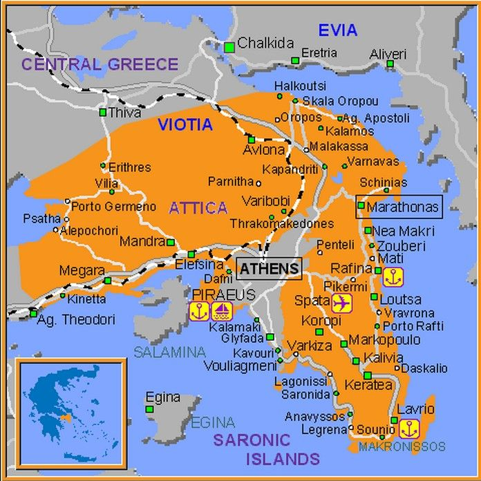 A Detailed Map Of Athens City In Greece Showing Main Streets - Where is athens