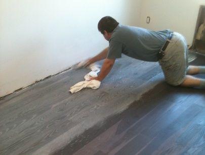 Wood Floors Go Gray Diy Wood Floors Grey Wood Floors