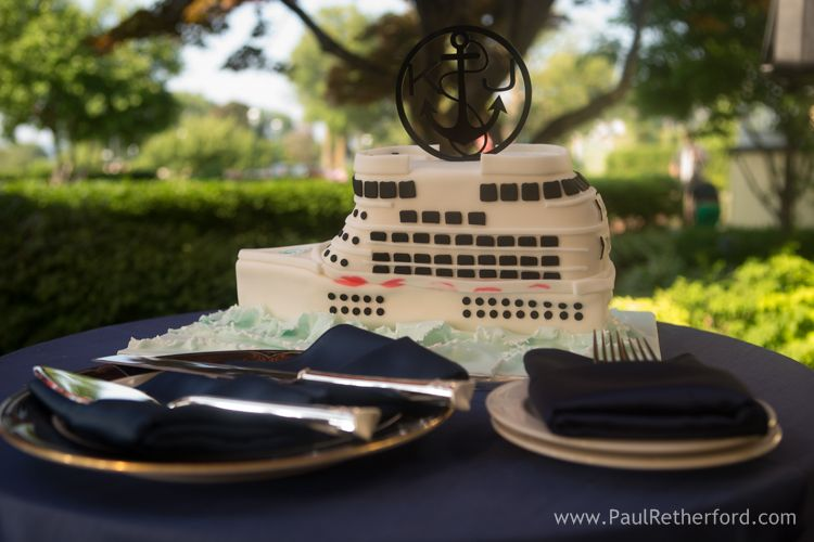 Wedding cruise ship cake by jayne cakes at perry hotel in