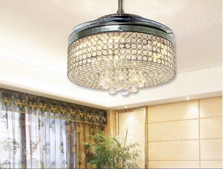 Crystal Chandeliers For Dining Room Brilliant 42 Inch Crystal Chandelier Fan Simple Fashion Chandelier Crystal Decorating Design
