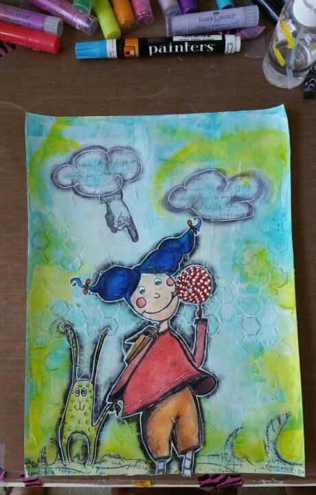I just started getting into mixed media...I love it...no limits to your imagination!