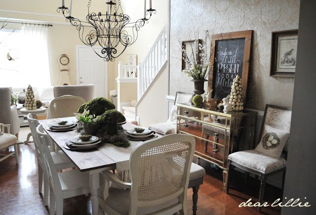 Dear Lillie: Spring Tablescape and Dining Room - It's a Spring Thing