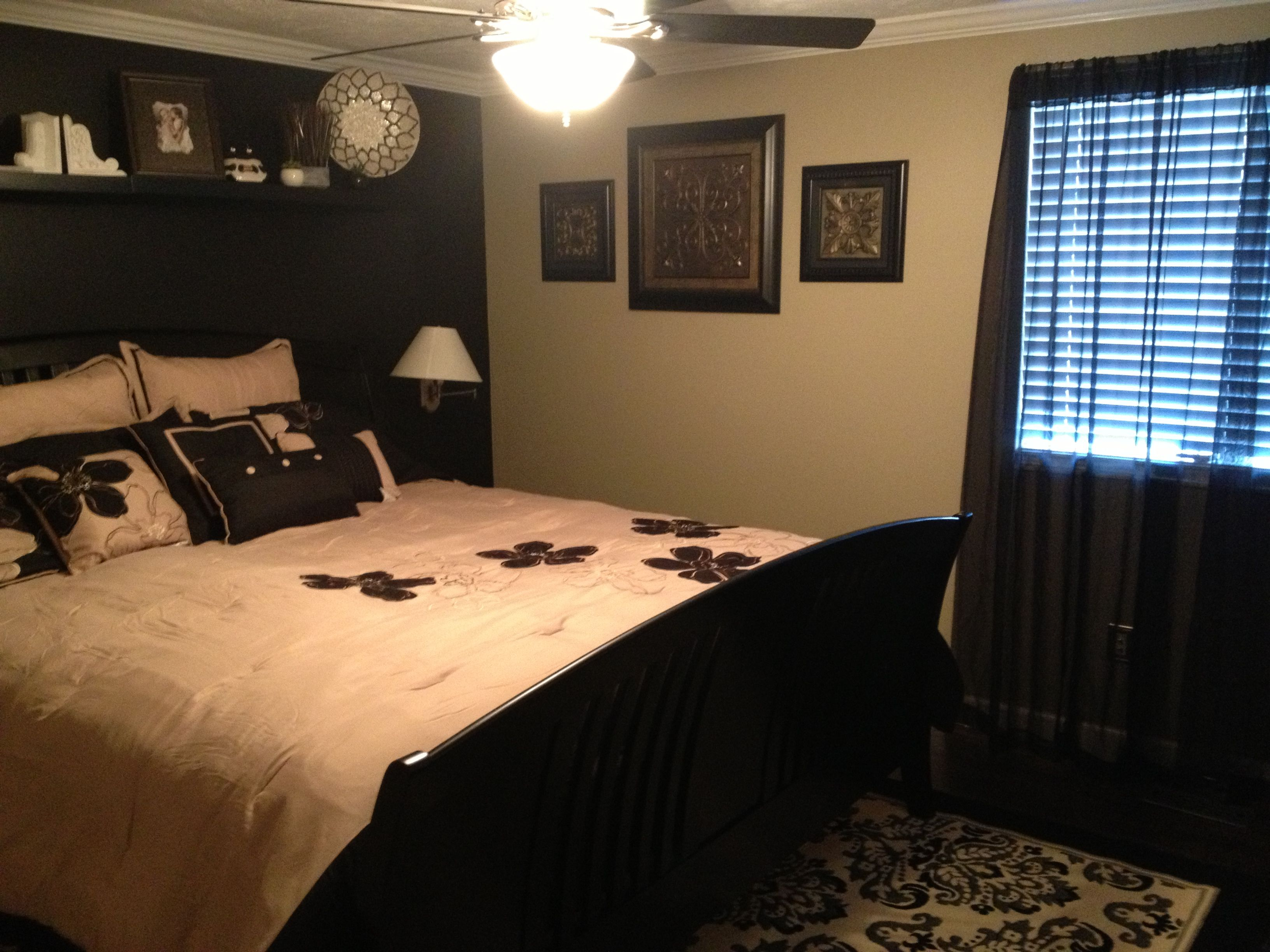 Black/Tan Bedroom | For the Home | Black bedroom furniture ...