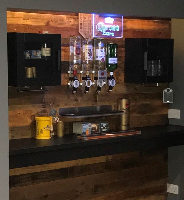 I Want To Share My IKEA Home Bar Hack. This Was Done Out In My Man Cave In  My Garage.
