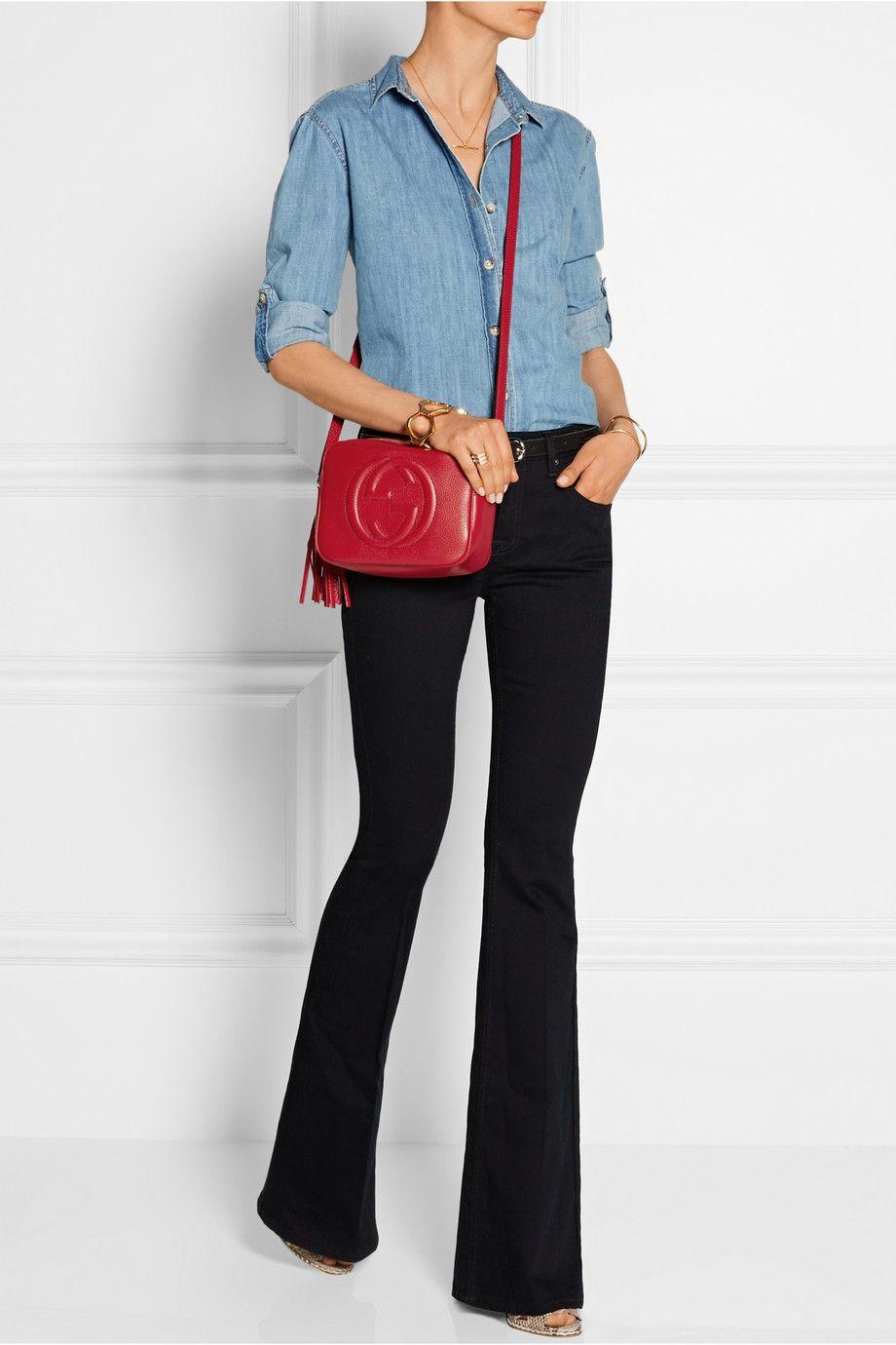 cadc7e212 Gucci | Soho Disco textured-leather shoulder bag | NET-A-PORTER.COM ...