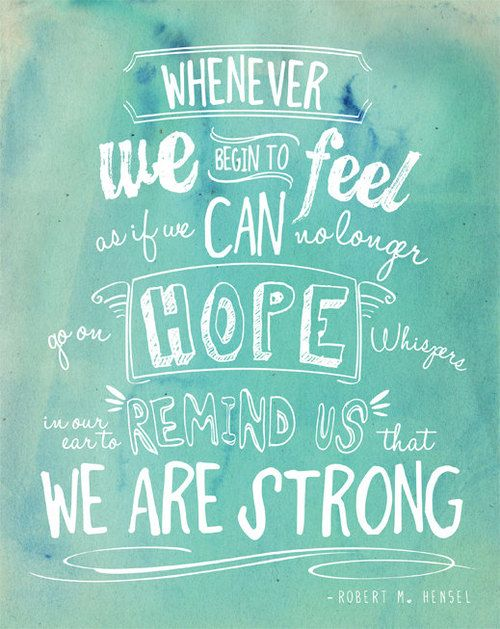 We are strong.