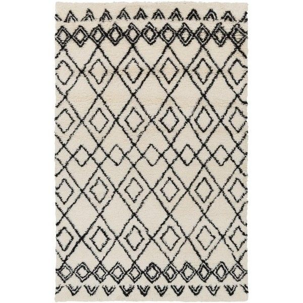 black and white rug patterns. Brilliant And Minday Rug Black And White  Liked On Polyvore Featuring Home Rugs Plush  Area Pattern Rug Textured Shag Rug Rugs Throughout And Rug Patterns