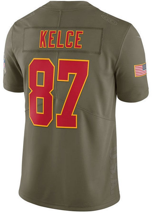 838e51ff9 Nike Men s Travis Kelce Kansas City Chiefs Salute To Service Jersey ...