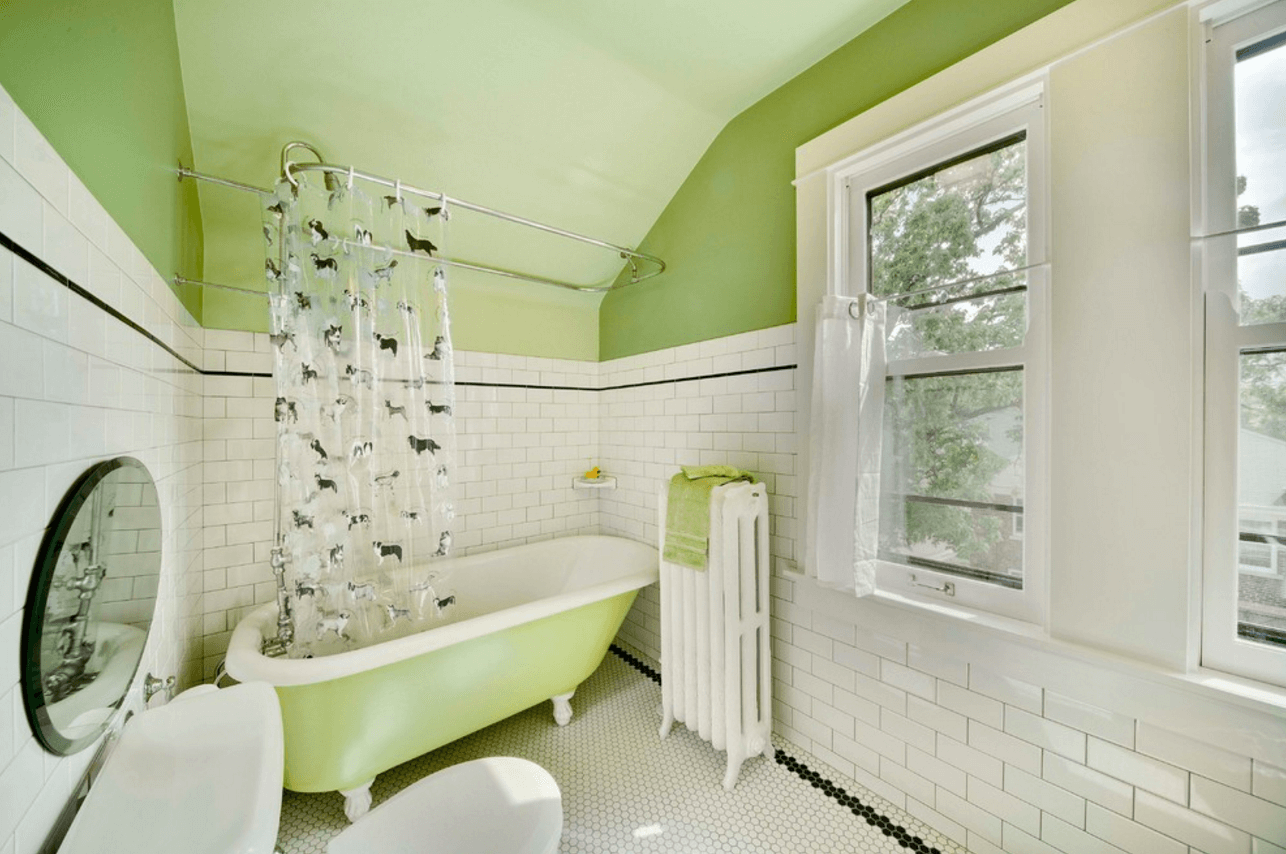 Classic lime bathroom punchy pastels jazz up the look of a
