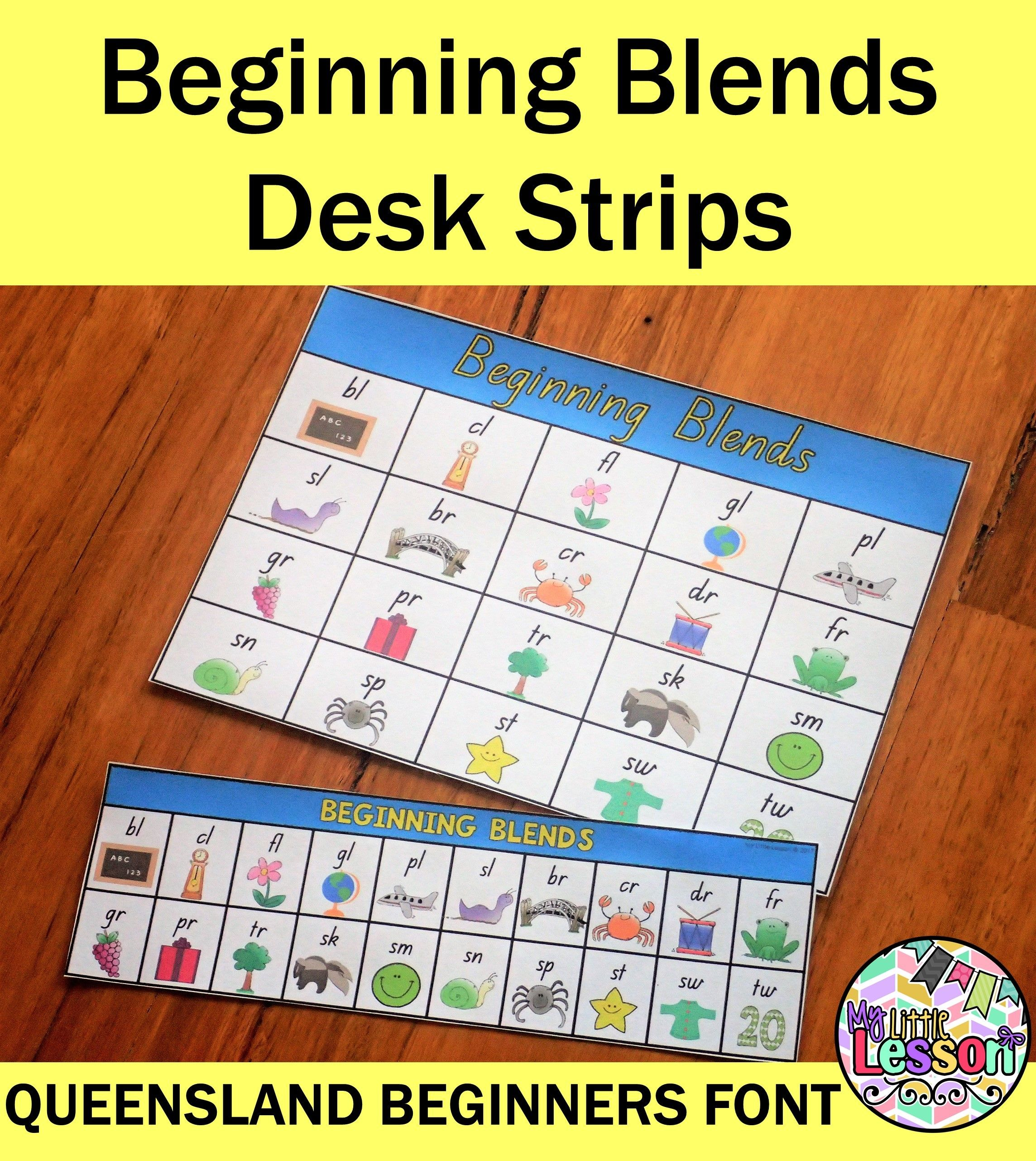 These Beginning Blends Desk Strips And Full Page Chart