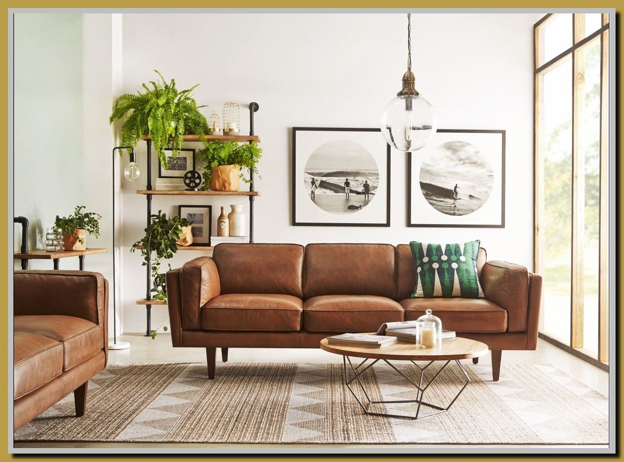 112 Reference Of White Leather Mid Century Modern Sofa In 2020 Brown Couch Living Room Brown Living Room Living Room Design Modern