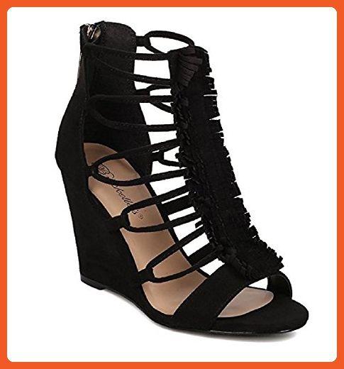 36124b1908b Breckelle s Carey-01 Elegant Sexy Buckle Stiletto Heel Sandals (5.5 B(M)  US
