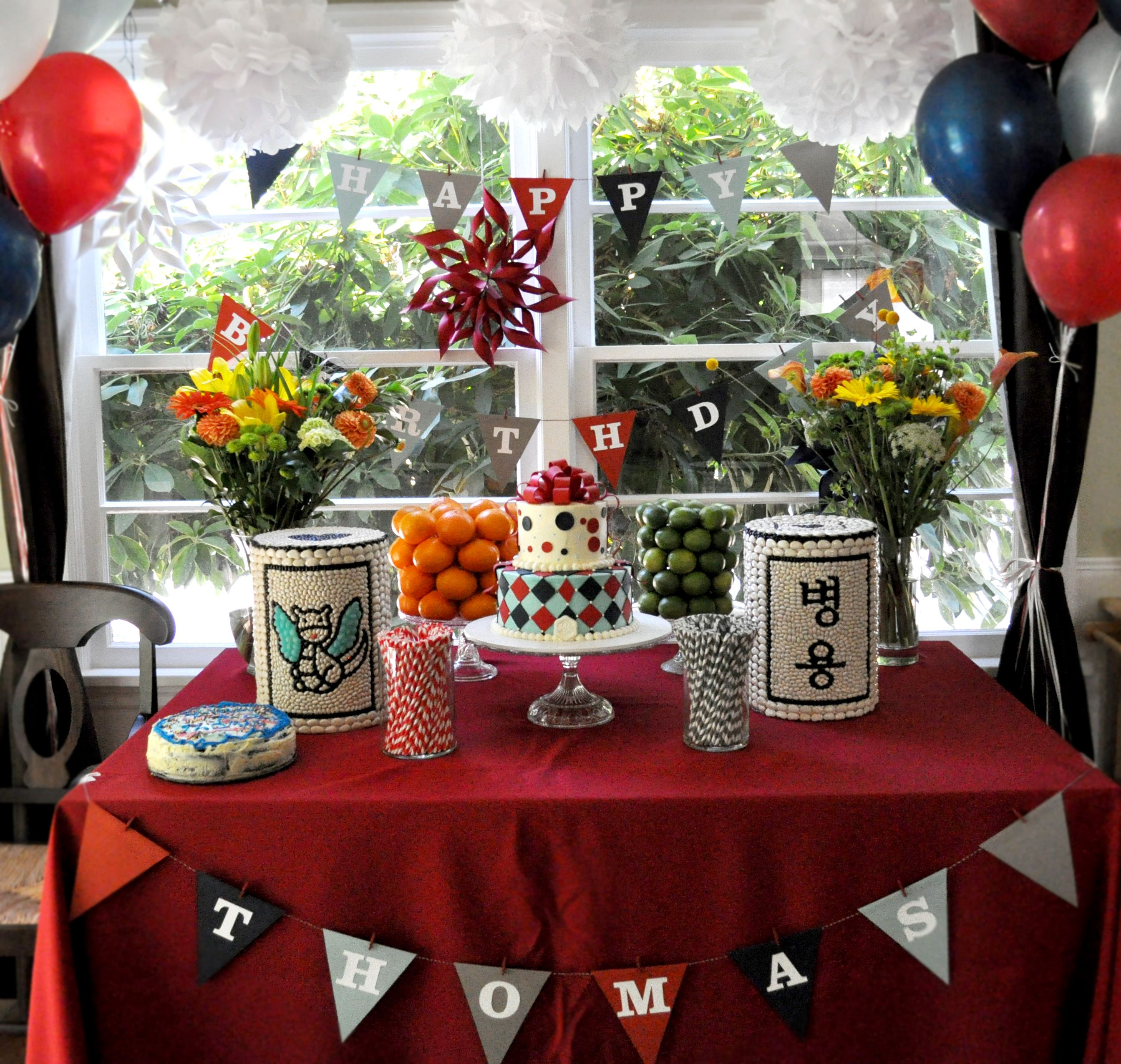 Birthday Table Presentation: Display Table For Korean First Birthday Party