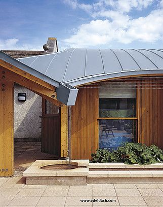Edeldach Zinc Roof Modern Architecture Metal Roof