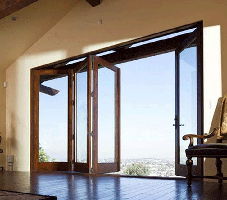 Wooden Folding Patio Door Andersen