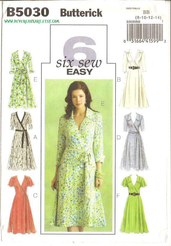 2007  Butterick 6 Six Sew Easy Pattern B5030  by Devereauxart, $6.00