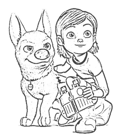 Penny Bolt Supervise Coloring Page | Education